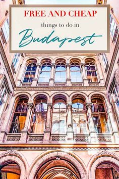 You will not be bored in Budapest, even if you are on a budget. Let's make the most out of your stay in Budapest! Visit Budapest, Budapest Travel, Budapest City, Europe Travel Tips, Travel Guides, Travel Destinations, Travel Packing, European Travel, Cheap Things To Do