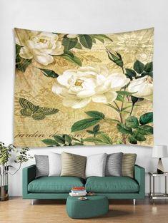Www Wall Art De cactus potted plant print tapestry wall art - shamrock green - w91 x