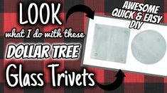 Glass Plates Made Into Trivets Dollar Store Hacks, Thrift Store Crafts, Dollar Stores, Dollar Tree Gifts, Dollar Tree Store, Christmas Crafts For Gifts, Diy Christmas, Crafts To Make, Diy Crafts