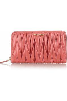 ba2fecb0d99c MIU MIU Matelassé leather wallet Miu Miu Wallet