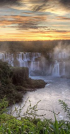 "Iguazú Falls, Argentina: ""The sheer power, size and spectacle of these vast waterfalls, by the point where Argentina, Brazil and Paraguay meet, has to be seen to be believed: it's one of the world's must-sees. The visitor park on the Argentine side is very well set out, offering beautiful jungle walks and boat rides around, over, and even underneath, the dozens of cascades."" Argentina: the Bradt Guide; www.bradtguides.com"
