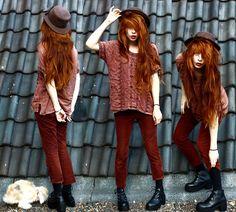 Nadia Esra - Vintage Shirt, Hat, Pants, Boots - Hello autumn, old friend