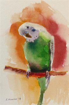 "Daily Paintworks - ""budgie24"" - Original Fine Art for Sale - © Katya Minkina"
