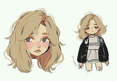 Cute Art Styles, Cartoon Art Styles, Demon Drawings, Character Art, Character Design, Tape Art, Anime Art Girl, Anime Girls, Cute Designs