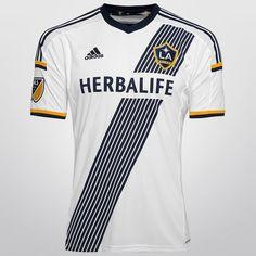 Camisa Adidas Los Angeles Galaxy Home 2015 s/nº - Branco+Marinho