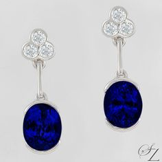 Uniquely bold and refined, these lovely Tanzanite earrings will really make a statement!