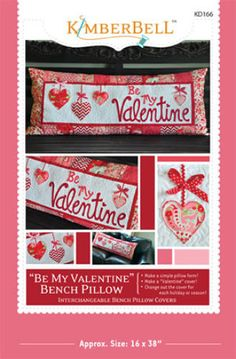 """""""Be My Valentine"""" Bench Pillow  