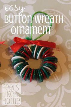 Christmas Button Crafts, Christian Christmas Crafts, Button Crafts For Kids, Christmas Buttons, Christmas Crafts For Kids To Make, Christmas Ornament Crafts, Christmas Activities, Xmas Crafts, Christmas Trees
