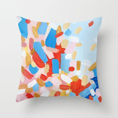 Firecracker Pillow by Emily Rickard