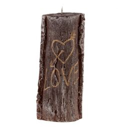 Kerze Baumstamm Romantic Candles, Anniversary, Cash Gifts, Wedding Day, Wood Carvings, Mother's Day, Valentines, Celebration