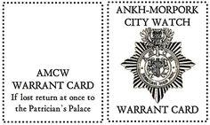 Ankh-Morpork Warrant Card