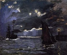 Seascape Night Effect 1866 | Claude Monet | Oil Painting #impressionism