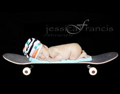 Baby Pictures | Newborn Pictures | Newborn poses | Photography | Skateboard | Skater boy