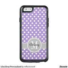 Lilac|Gray Personalized OtterBox iPhone 6/6s Case