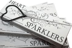 $4.25 Heart-Shaped Sparklers for Weddings