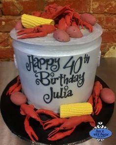 crawfish birthday cake | Crawfish boil cake