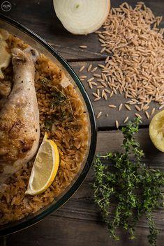 Λεμονάτο γιουβέτσι κοτόπουλο με κριθαράκι ολικής άλεσης - madameginger.com
