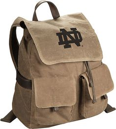 142cd4785d University of Notre Dame Canvas Rucksack