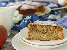 Himmlischer Apfelkuchen mit Mandeln | Dinkelliebe | Backblog Foodblog Genussblog Sweet Bakery, Banana Bread, Desserts, Food, Party, Gluten Free Pie, Healthy Cake, Small Cake, Fruit Cakes