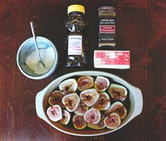 Roasted Figs with Honey & Fresh Ricotta