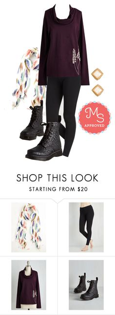 """""""Simple and Sleek Leggings"""" by modcloth ❤ liked on Polyvore featuring Dr. Martens"""