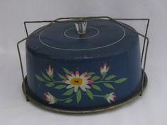 Vintage metal cake keeper