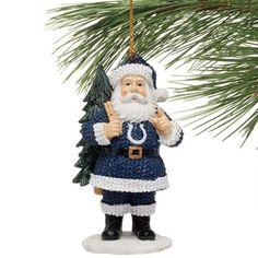 Indianapolis Colts Santa Toting Tree Ornament - Royal Blue