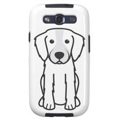 Irish Red and White Setter Dog Cartoon Galaxy S3 Cover