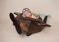 Photo Prop, Photography Prop Airplane, Plane Prop, Newborn Prop, Plane, Prop, Aviator, Aviator Prop, Boy Prop. $200.00, via Etsy.