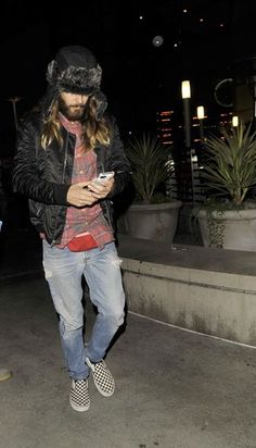 Jared Leto Out in HollyWood - 14 November 2014 - Candids credits to owner