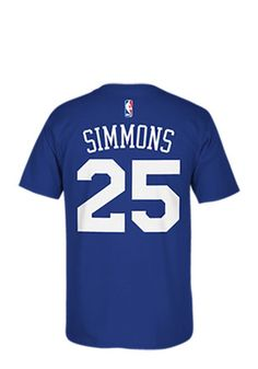 Ben Simmons Philadelphia 76ers Mens Blue Name and Number Player Tee Tee 19b3f1d6f
