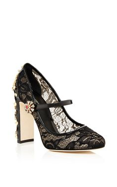 Decollete Pizzo Ankle Strap Pumps by Dolce & Gabbana Now Available on Moda Operandi