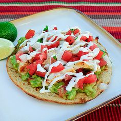 Grilled Chicken Tostadas #recipe #chicken #healthy