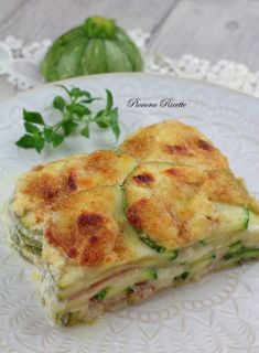lasagne di zucchine Zucchini Ravioli, Crepes, Cannelloni, Vegetarian Recipes, Healthy Recipes, Gnocchi, Brunch Recipes, My Favorite Food, Food Inspiration