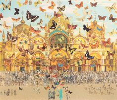 The Butterfly Man in Venice: Homage to Damien Hirst (canvas) by Sir Peter Blake