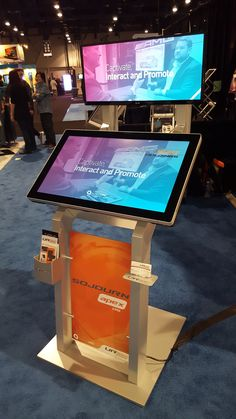 The Sojourn apex ds kiosk w/ TRU Touch and LG Ultra Wide, a big hit at this year Modular Design, Kiosk, Ds, Touch