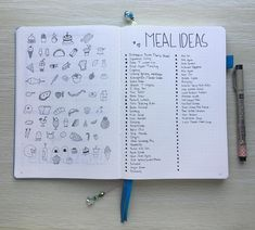 """14 Gostos, 1 Comentários - Diany Prasetio (@ooohdear) no Instagram: """"Need more meal ideas to be added in the repertoire #bujo #bulletjournal"""""""