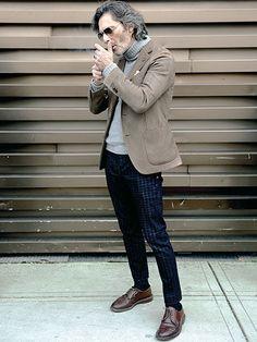 クラシックとモダンのミックス、肝心なのはサイジング。 | メンズファッションの決定版 | MEN'S CLUB(メンズクラブ)