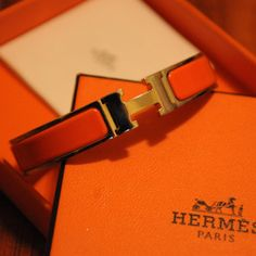 Hermes Bracelet in classic Hermes Orange My Favorite Color, My Favorite Things, Hermes Bracelet, Bracelets, Hermes Orange, Orange You Glad, Happy Colors, Orange Color, Orange Style