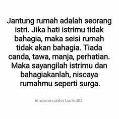 . Catatan untuk para suami  . . Niscaya bahagia insyaallah . #Indonesiabertauhid Cridit @indonesiabertauhidid http://ift.tt/2f12zSN