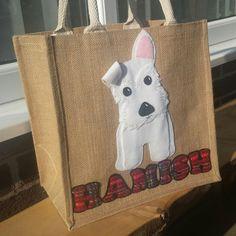 Personalised Dog Design Jute Bag by MiloandMimiShop on Etsy                                                                                                                                                                                 More