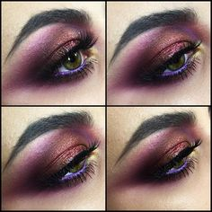Smokey purple eyes