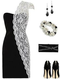 Like is a lot (: the black and then the white lace is killin it