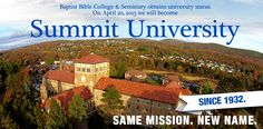 SCA graduates have attended Summit University. Best University, Graduate Degree, Mba Degree, Children Ministry, Youth Ministry, Seffner Christian Academy, Business School, Online Business