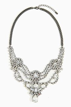 Crystal statement necklace - $36