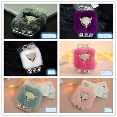 For iPhone 7Plus Case Rabbit Hair Fur Fox Head Bling Diamond Rhinestone TPU Case For iPhone. Click visit to buy #RhinestoneCase #rhinestone #case