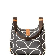 Orla Kiely bag from On My Bike with Scissors and a Cast Iron Skillet