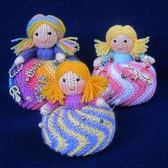 Twirling Doughnut Dolls toy doll or pincushion by toyshelf