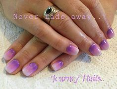 Purple Ombre look. Nail art by a local lady in Centurion, South Africa.. 071 244 4709 Contact her for an appointment