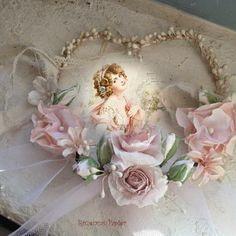 Rozen van Papier: Valentijn hartje met roosjes en bloemetjes van papier